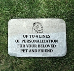 Shar Pei Memorial Stone 12x18 Pet Shar Pei Headstone